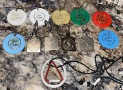 Lot Of Alcoholics Anonymous Keychains/necklace Aa Andldquowe Careandrdquo Sobriety Program