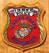 Gemsco Nos Nypd Patch Police Marine Corps Association Nyc - Ny 35 Year Old V1