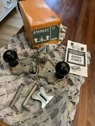 Stanley 71 Router Plane Complete With Box 3 Cutters Fence Manual And Waxy Paper