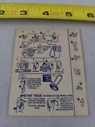 Vintage 1950's Football Puzzle Instructions Only Keychain Key Ring Chain D2