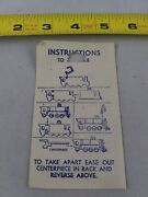 Vintage 1950's Train Puzzle Instructions Only Keychain Key Ring Chain D2