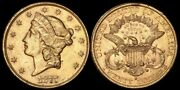 United States 1877s 20 Liberty Head. Gold.