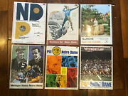 1967 Notre Dame Lot Of Program And Magazine 12 Total - Rocky Bleier Collection