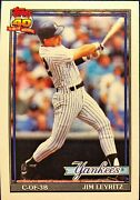 Rare Vintage Mint Condition Jim Leyritz Topps 1991 202 Rookie Baseball Card