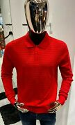 Kiton Napoli Long-sleeve Wool Polo Shirt Size 50 / M 100 Authentic And New
