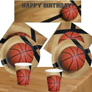 Basketball Party Supplies Tableware Cup Plate Napkin Balloons And Decorations