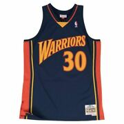 Mens Mitchell And Ness Nba Swingman Road Jersey Warrior Steph Curry 2009-2010