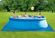 Intex 15and039 X 48 Easy Set Pool W/ Filter Pump Ladder Ground Cloth And Pool 26167e