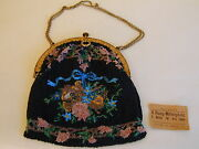 Antique Edwardian Bead Bag/purse From Germany Comes With Original Opera Ticket
