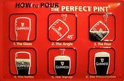 Guinness Perfect Pint Tin Sign Shield 3d Embossed Arched 7 7/8x11 13/16in