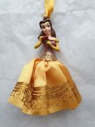 Disney Store Sketchbook Belle With Rose Beauty And The Beast Hanging Ornament 2014