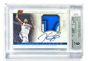 2014-15 National Treasures Kevin Durant 2/10 Clutch Factor Patch Auto Bgs 9/10
