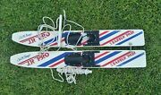 Vintage Wood Cut Nand039 Jump Youth Kidand039s Trainer Water Skis 45 Retro Waterskis