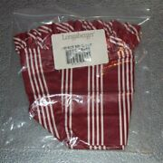 Longaberger Berry Red Stripe Large Recipe Basket Liner Made In Usa New In Bag