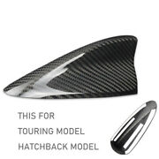 Real Carbon Fiber Roof Shark Fin Antenna Cover For 16-18 Mazda3 Hatch Touring