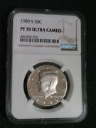 1989 Clad Kennedy Half Dollar S 50c Proof Ngc Pf70 Ultra Cameo New Brown Label