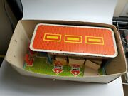 Cccp/russian Tin Texaco Gas Station Garage With Truck And 2 Cars Mib`68
