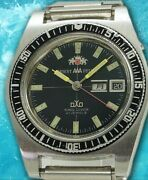 Orient Aaa Deluxe King Diver G349-12450 Automatic Vintage Watch 1970's