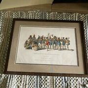 War Dance Of The Sauks And Foxes Hand Colored Original Lithograph 1838