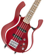 Vox Vsba-a2s-rdmr Flame Red Body Metal Box Short Scale With Benefits