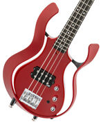 Vox Vsba-a1h-rdmr Flame Red Body Metal Box Short Scale With Benefits
