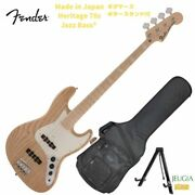 Fender Made In Japan Heritage 70s Jazz Bass Electric Base Domestic