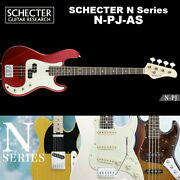 Schechter Schecter N-pj-as Pj-based Swamp Ash Color Red Series With Soft Case