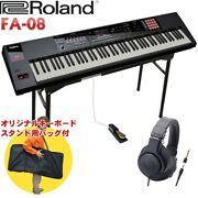 Roland Fa-08 Synthesizer Table Keyboard Stand/headphones/set With Pedals
