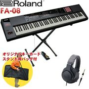 Roland Fa-08 Synthesizer X-type Keyboard Stand/ Headphones/ Set With Pedals