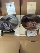 Gregory Perillo Council Of Nations Collector Plates Autographed With Coas