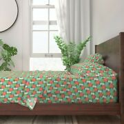 Retro Inspired Midcentury Modern 1950s 100 Cotton Sateen Sheet Set By Roostery