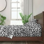 Black And White Abstract Rain Drops 100 Cotton Sateen Sheet Set By Roostery
