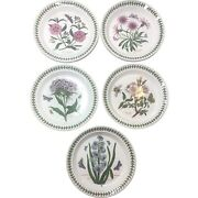 Portmierion The Botanic Garden Floral Salad Plates 8 1/2 Lot 7 Dishes Luncheon
