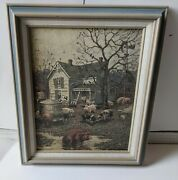 Schmid Lowell Davis Signed Framed Lithograph The Old Home Place 1993 72/750