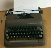 1957 Smith Corona Sterling Portable Typewriter With Case