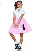 1950s Poodle Skirt Culture Costume Sock Hop Soda Fountain - New - Size M 8-10
