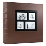5xphoto Album Holds 4x6 400 Photos Pages Large Capacity Leather Cover Binder
