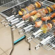 5x12pack 14 Inch Stainless Steel Barbecue Skewers With Buckle Reusable