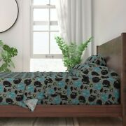 Devon Rex Cat Black Cat Ribbons Bows 100 Cotton Sateen Sheet Set By Roostery