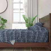 Blue Tribal Moroccan Trendy Little 100 Cotton Sateen Sheet Set By Roostery