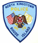North Kingstown Rhode Island Ri Sheriff Police Patch Eagle Shield State Flag