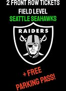 2 Raiders Vs Seahawks Front Row Tix And Parking Pass Section 123 Parking Lot J