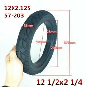 2 Electric Scooter Solid Rubber Tires 12-1/22 1/4 Air Free Puncture Proof Tire