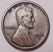 1923 S Lincoln Wheat Cen T Penny -  Better Grade - Free Shipping