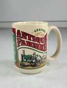 Genuine Antique Farmer Tractor Coffee Mug Cup Agriculture Plowing 1986 Laid Back