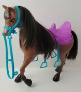 Barbie And Her Sisters In A Pony Tale Skipper Doll Brown Horse With Purple Saddle