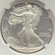 1987-s Proof American Silver Eagle Ngc Pf70 Ultra Cameo