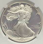1989-s Proof American Silver Eagle Ngc Pf70 Ultra Cameo