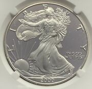 2000-p Proof American Silver Eagle Ngc Pf70 Ultra Cameo
