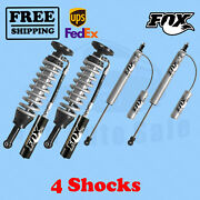 Fox Shocks Kit 4 Front 0-2 And Rear 0-1 Lift For Toyota Tundra 2007-20